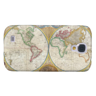 Samuel Dunn Wall Map of the World in Hemispheres Samsung Galaxy S4 Cover