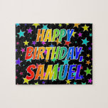 "[ Thumbnail: ""Samuel"" First Name, Fun ""Happy Birthday"" Jigsaw Puzzle ]"