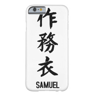 """""""SAMUEL"""" in Kanji Barely There iPhone 6 Case"""