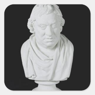 Samuel Johnson (1709-84) 1777 (yeso) Pegatina Cuadrada