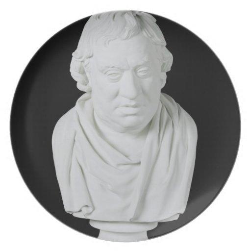 Samuel Johnson (1709-84) 1777 (yeso) Plato De Cena
