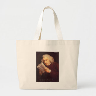 Samuel Johnson Love Is Wisdom Gifts Cards Etc Large Tote Bag