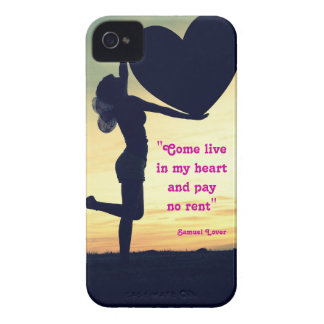 Samuel Lover quote heart love inspiration Case-Mate iPhone 4 Cases