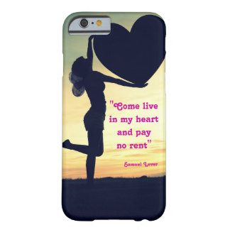 Samuel Lover quote heart love inspiration Barely There iPhone 6 Case