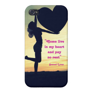 Samuel Lover quote heart love inspiration iPhone 4/4S Cases