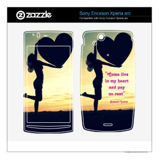 Samuel Lover quote heart love inspiration Xperia Arc Skin