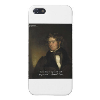 """Samuel Lover """"Rent Free Heart"""" Love Quote Gifts iPhone SE/5/5s Cover"""