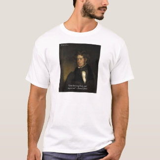 """Samuel Lover """"Rent Free Heart"""" Love Quote Gifts T-Shirt"""