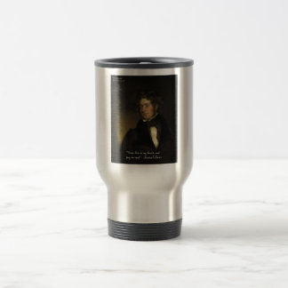 """Samuel Lover """"Rent Free Heart"""" Love Quote Gifts Travel Mug"""