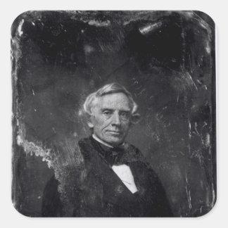 Samuel Morse c.1844-60 Calcomanía Cuadradas Personalizada