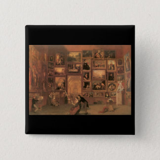 Samuel Morse Gallery of the Louvre Pinback Button