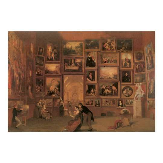 Samuel Morse Gallery of the Louvre Poster