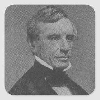 Samuel Morse Pegatina Cuadrada