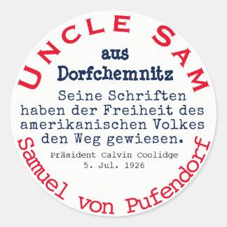 Samuel of Pufendorf Classic Round Sticker