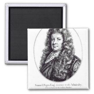 Samuel Pepys 2 Inch Square Magnet