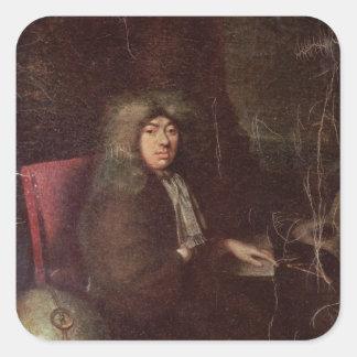 Samuel Pepys Square Sticker