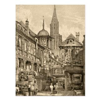 Samuel Prout Strasbourg Street Scene Vintage 1915 Post Card