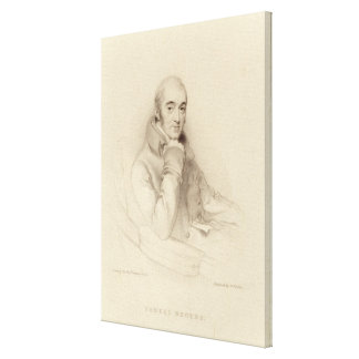 Samuel Rogers, engraved by William Finden Canvas Print