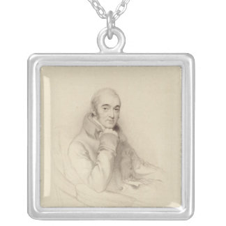 Samuel Rogers, engraved by William Finden Silver Plated Necklace