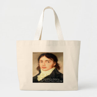 "Samuel T Cooldridge ""Sheltering Tree"" Wisdom Quote Large Tote Bag"