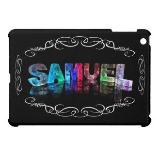Samuel  - The Name Samuel in 3D Lights (Photograph Case For iPad Mini