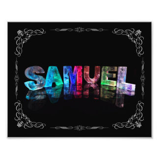 Samuel  - The Name Samuel in 3D Lights (Photograph