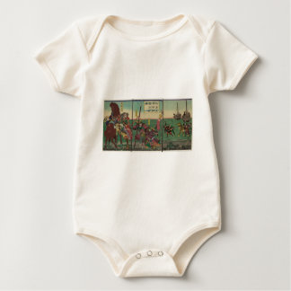 Samura, Horse, Boats, and Tiger circa 1800s Baby Bodysuit