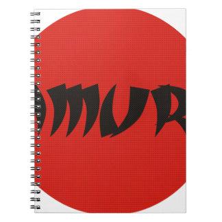 samurai3.png spiral notebook