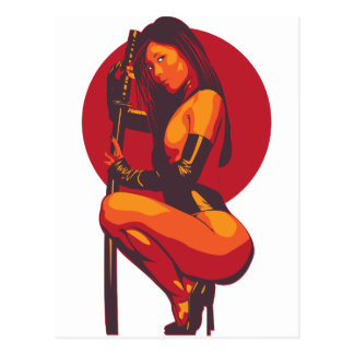 Samurai 11 postcard