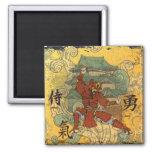 Samurai 2 Inch Square Magnet