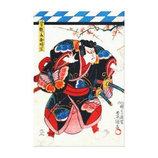 Samurai Actor 1848 Gallery Wrap Canvas