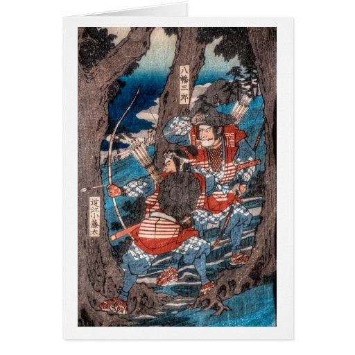 Samurai Ambush Greeting Card