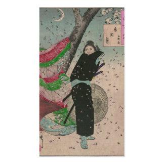 Samurai and Cherry Blossoms circa 1800s Business Cards