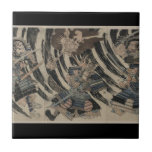 Samurai and Demon circa 1818 Tile