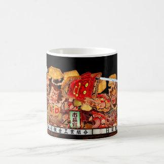 Samurai and Demon Japanese Festival Float 11 Oz Magic Heat Color-Changing Coffee Mug
