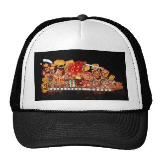 Samurai and Demon Japanese Festival Float Hats