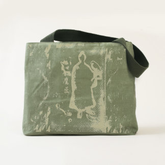 Samurai and Falcon Graffiti Watercolor Ink Tote