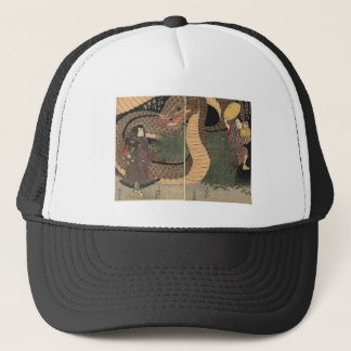 Samurai and giant serpent circa 1822 trucker hat