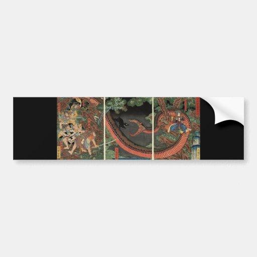 Samurai and giant serpent circa 1861 bumper sticker