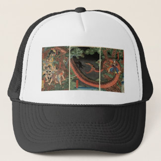 Samurai and giant serpent circa 1861 trucker hat