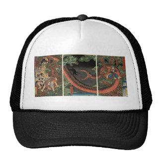 Samurai and giant serpent circa 1861 trucker hat
