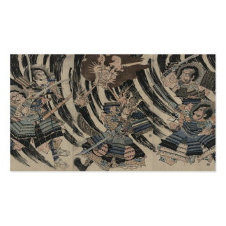 Samurai and Japan circa 1818 Business Card Template