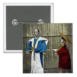 Samurai and Servant Button