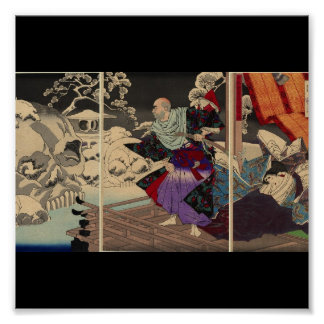 Samurai and Skulls in the Snow, Circa 1882 Poster