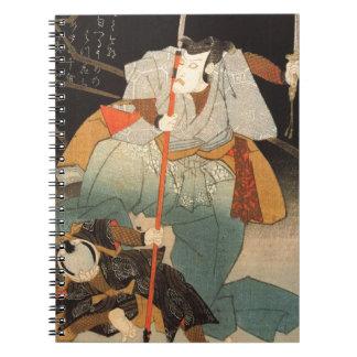 Samurai and the conquered by Utagawa Kuniyoshi Spiral Note Book