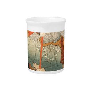 Samurai and the conquered by Utagawa Kuniyoshi Pitcher