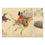 Samurai Archer Hunting Greeting Card