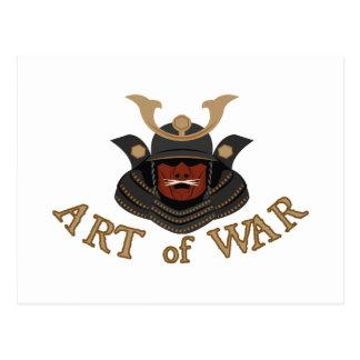 Samurai Armor Art of War Postcard