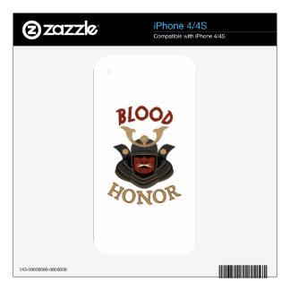 Samurai Armor Blood & Honor iPhone 4S Decal