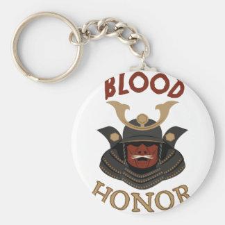 Samurai Armor Blood & Honor Basic Round Button Keychain